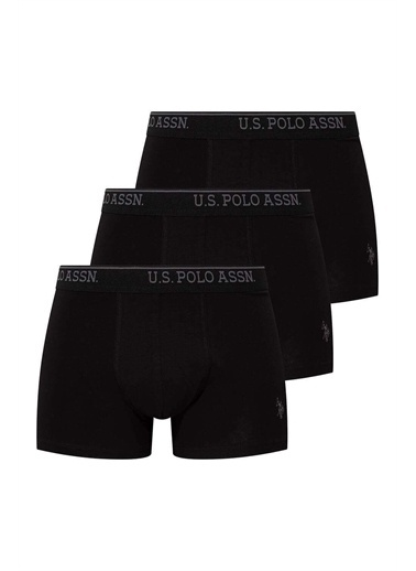 U.S. Polo Assn. U.S. Polo Assn. Erkek Siyah 3 Lü Boxer Siyah
